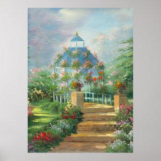 La pintura de una flor cubrió el Gazebo en verano Impresiones