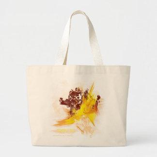 La pintura del abejorro frota ligeramente 2 bolsa tela grande