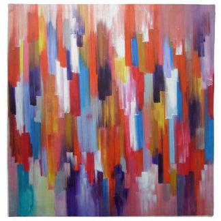 La pintura del arte abstracto encajona la acuarela servilleta