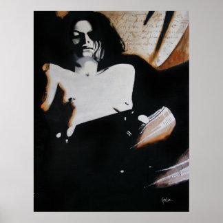 La pintura del autor de la mujer poster