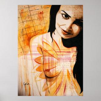 La pintura del autor que espera poster