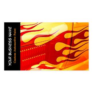 La pintura del coche flamea trabajo de la pintura  plantilla de tarjeta de negocio