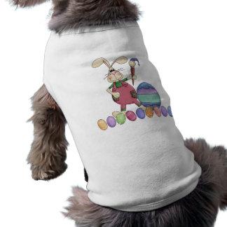 La pintura del conejito de pascua Eggs la camisa d Camisas De Perritos