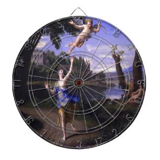 La pintura del Cupid y de la psique de Colombel am Tablero Dardos