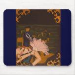 La pintura del pavo real tapetes de raton