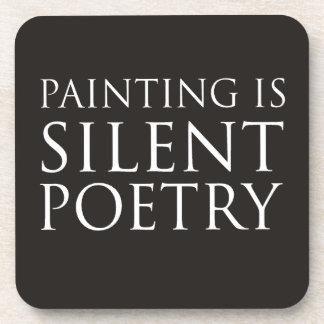 La pintura es poesía silenciosa posavaso