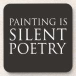 La pintura es poesía silenciosa posavasos