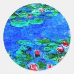 La pintura famosa de Monet, lirios de agua (visión