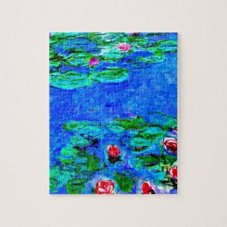 La pintura famosa de Monet, lirios de agua (visión Puzzle Con Fotos