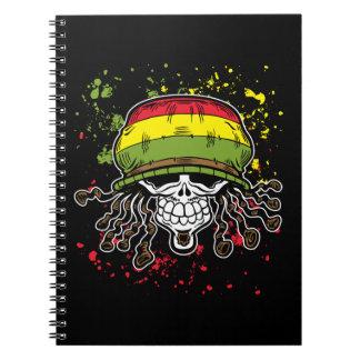 La pintura jamaicana del cráneo del pelo de Rolls Cuadernos