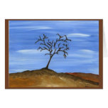 La pintura minimalista tradicional del árbol de Br Felicitacion