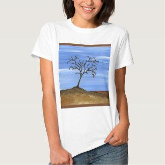 La pintura minimalista tradicional del árbol de polera