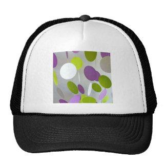 La pintura púrpura verde caliente de la verde lima gorra