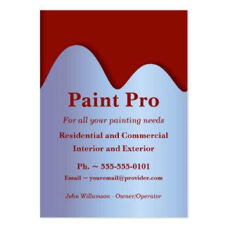 La pintura roja puede las tarjetas de visita de la
