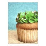 La pintura verde de la foto de la magdalena invita comunicados personalizados