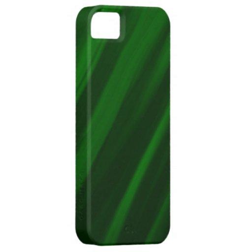 La pintura verde fresca raya el gráfico iPhone 5 protectores