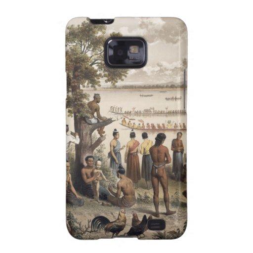 La piragua compite con en el río de Bassac, detall Samsung Galaxy S2 Fundas