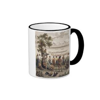 La piragua compite con en el río de Bassac, detall Taza De Café
