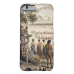 La piragua compite con en el río de Bassac, Funda De iPhone 6 Barely There