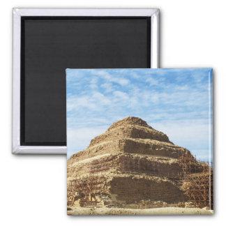 La pirámide de Djoser - Saqqara, Egipto Imán Cuadrado