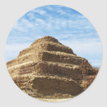 La pirámide de Djoser - Saqqara, Egipto Pegatinas Redondas