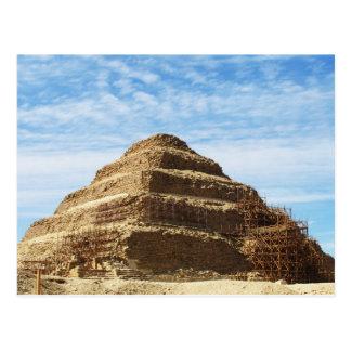 La pirámide de Djoser - Saqqara, Egipto Tarjeta Postal