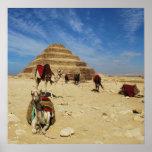 La pirámide de Djoser (Zoser), poster de EGIPTO