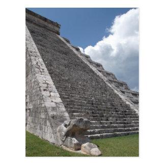 La pirámide de Kukulcan 2 Tarjetas Postales