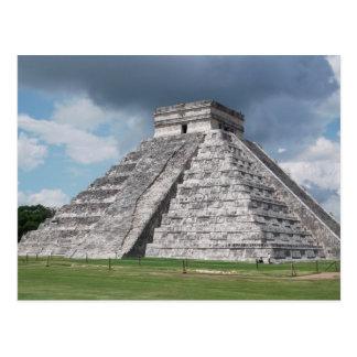 La pirámide de Kukulcan (trasero) Tarjeta Postal