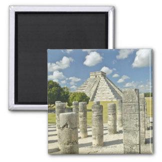 La pirámide de Kukulkan Imán Cuadrado