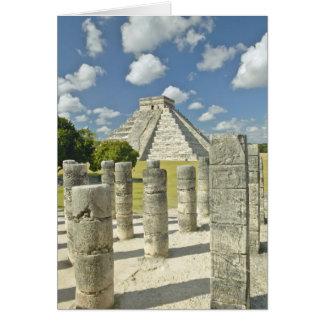 La pirámide de Kukulkan Tarjeta De Felicitación