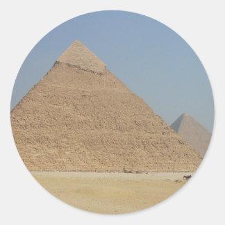 la pirámide de los khafre pegatina redonda