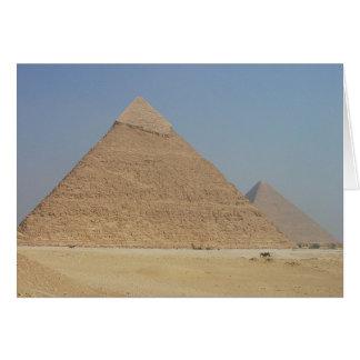 la pirámide de los khafre tarjeta de felicitación