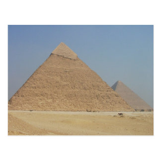 la pirámide de los khafre tarjeta postal