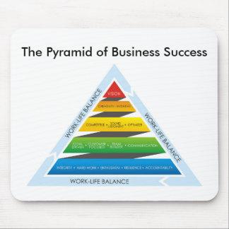 La pirámide del cojín de ratón del éxito alfombrillas de ratones