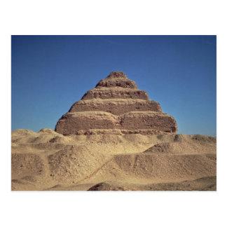 La pirámide del paso de rey Djoser, c.2630-2611 Tarjeta Postal