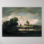 La piscina con un cielo tempestuoso, c.1865-7 impresiones