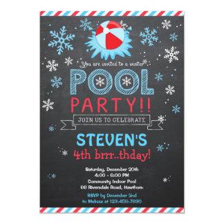 La piscina de la invitación/del invierno de la invitación 12,7 x 17,8 cm