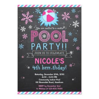 """La piscina de la invitación/del invierno de la invitación 5"""" x 7"""""""