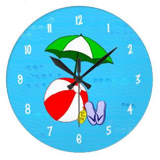 La piscina de la pelota de playa juega números del reloj redondo grande