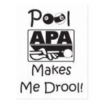 La piscina hace que Drool Tarjeta Postal