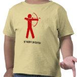La pistola recta (Archer rojo) embroma T Camiseta