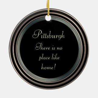 La Pittsburgh-Foto Ornament-2 echó a un lado Ornato