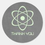 La pizarra atómica verde le agradece los pegatinas pegatinas redondas