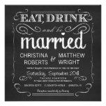 La pizarra come la bebida sea invitaciones casadas anuncios personalizados