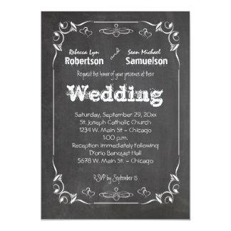 La pizarra come la bebida y sea boda casado invita invitación 12,7 x 17,8 cm