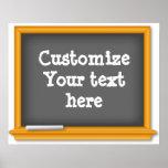 La pizarra de antaño en blanco, modifica su texto  impresiones