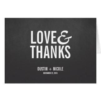 La pizarra del amor y de las gracias le agradece tarjeta pequeña