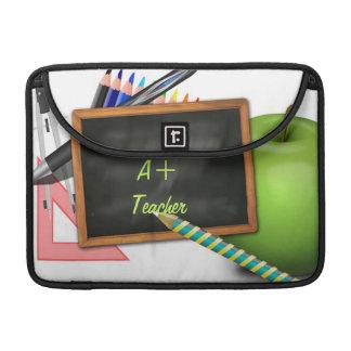 La pizarra del profesor personalizado funda para macbooks