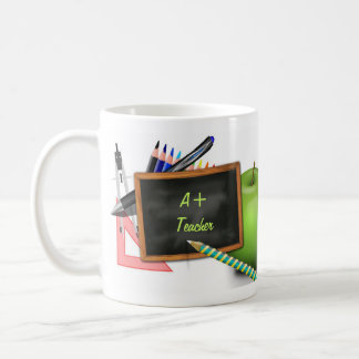 La pizarra del profesor personalizado taza de café